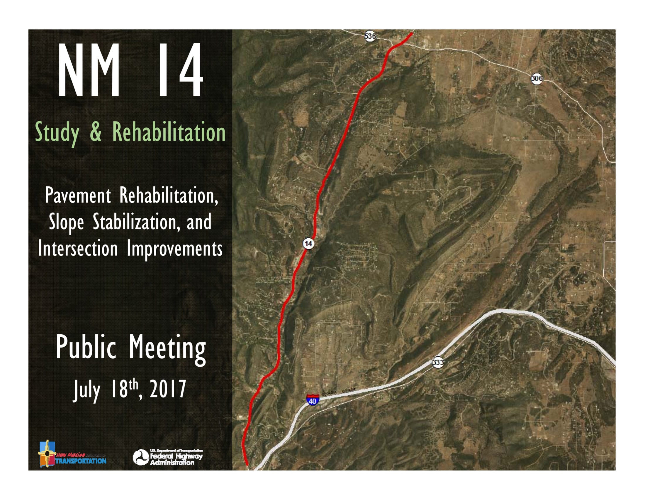 The New Mexico Department of Transportation is planning several improvements on NM 14 over the next several years.