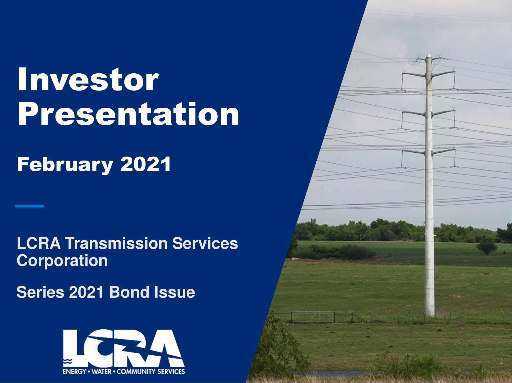 LCRA Transmission Services Corporation Investor Presentation