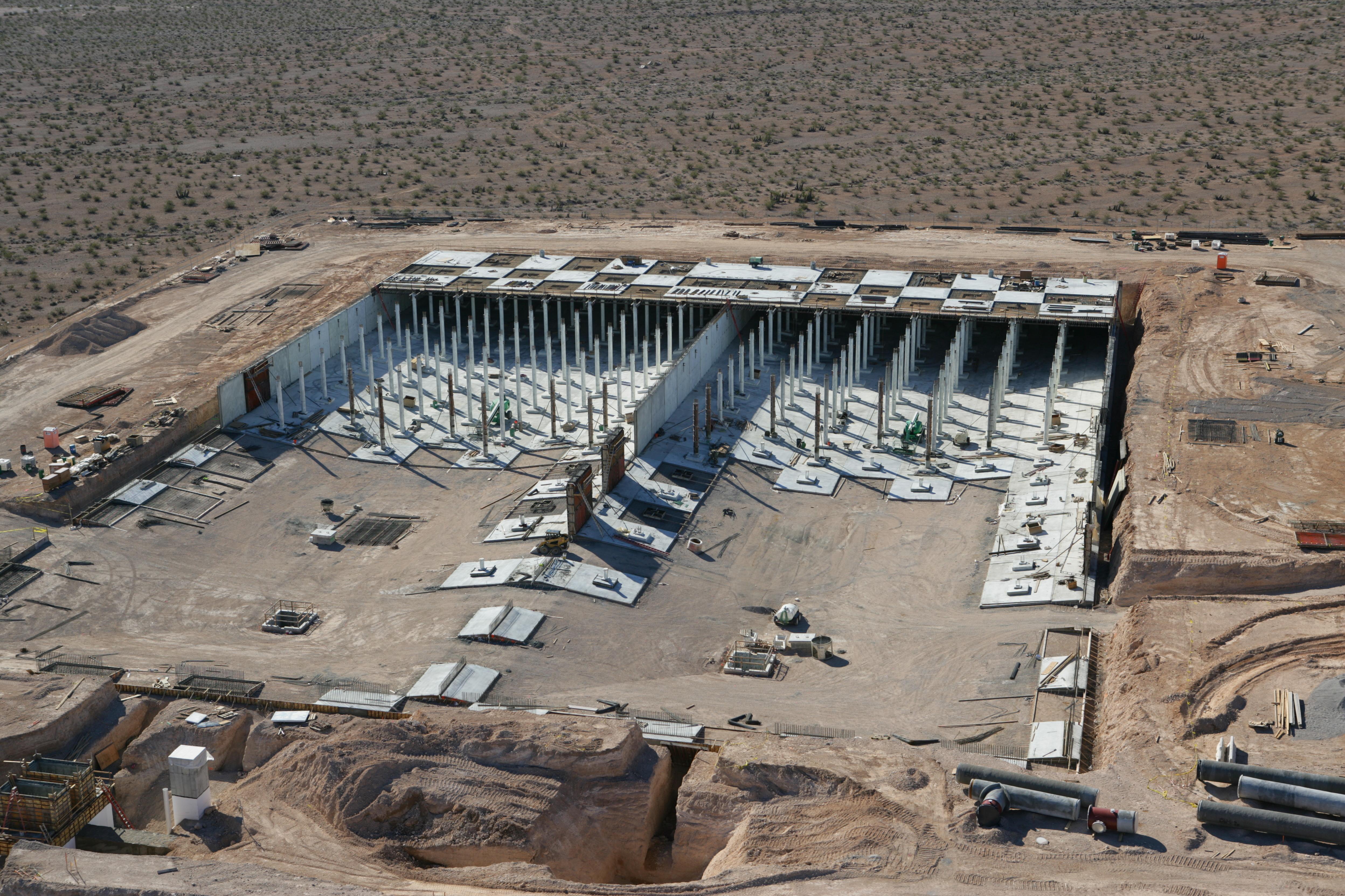 Levi reservoir under construction.