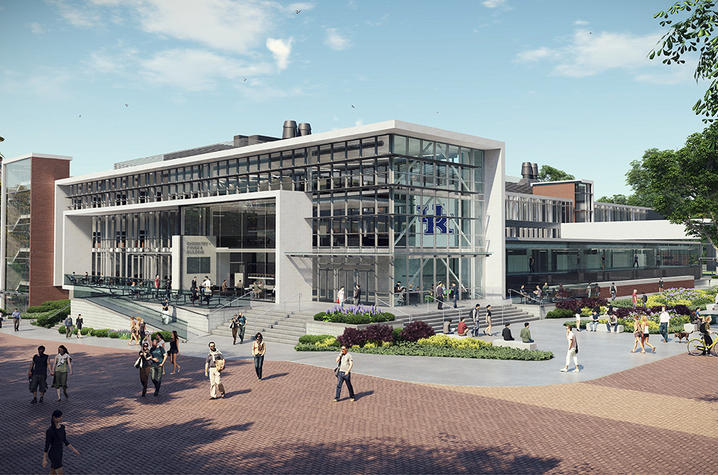 Chem-Phys: The construction project will result in renovation third floor, as well as a completely new exterior facade of the building. Rendering courtesy of the UK College of Arts and Sciences.