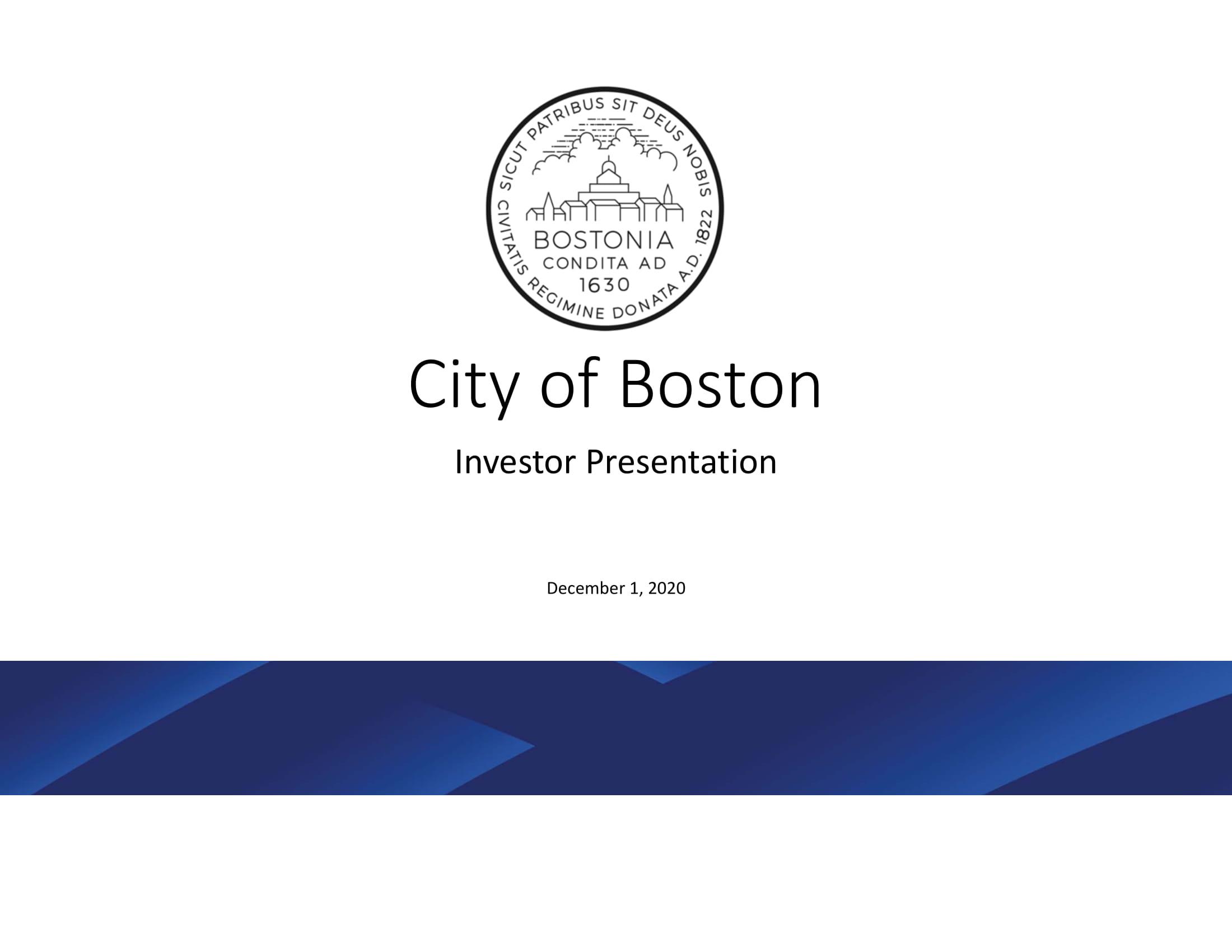 City of Boston Investor Presentation