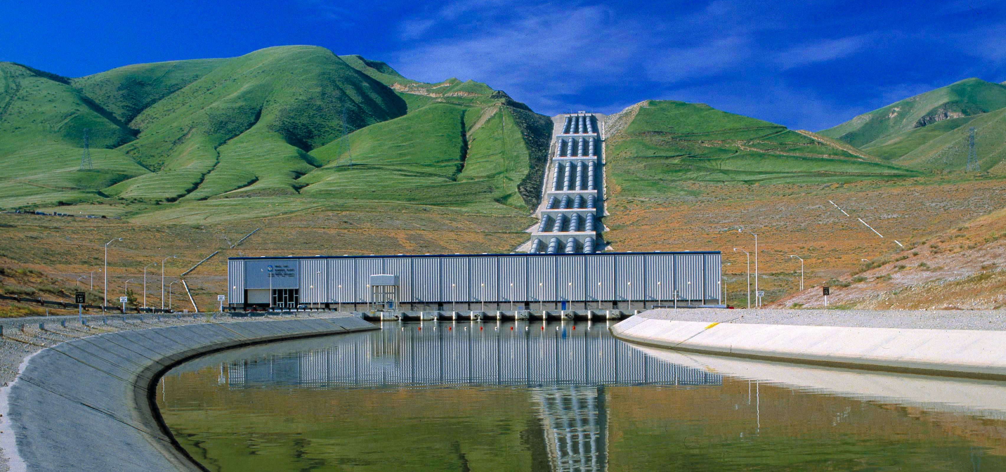 The Ira J. Chrisman Wind Gap Pumping Plant is part of the California Aqueduct within the Calif. State Water Project, located just west of Interstate Highway 5 within Kern County in Southern Calif.