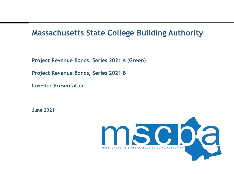 Project Revenue Bonds, Series 2021 A (Green Bonds) and Project Revenue Bonds, Series 2021B Investor Presentation