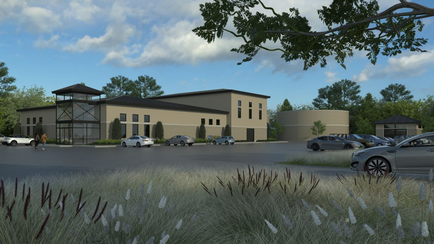 Rendering of New Drinking Water Treatment Plant