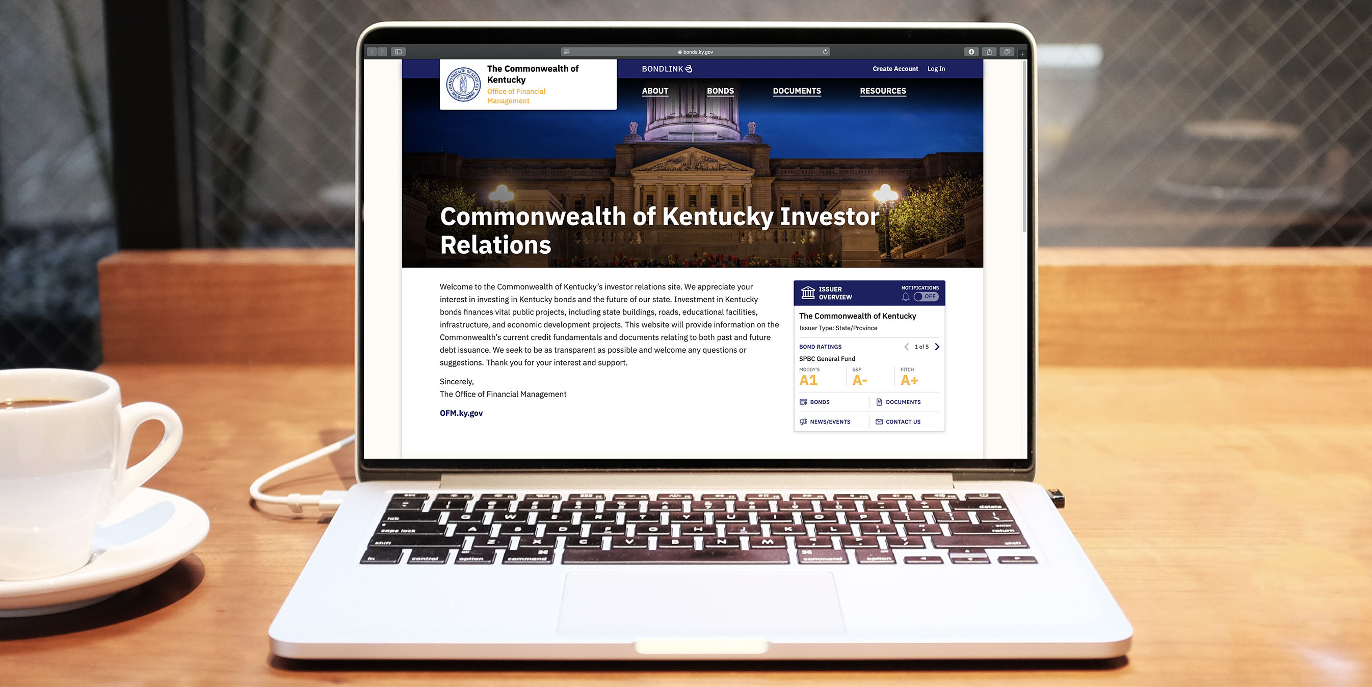 commonwealth of kentucky investor relations site bondlink